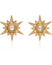 Arman Sarkisyan - 22k Gold Diamond Stud Earrings - Lyst