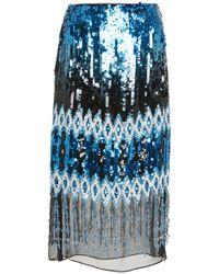 Prabal Gurung - Kyla Embroidered Pencil Skirt - Lyst