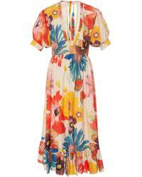 Carolina K - Greta Floral Midi Dress - Lyst