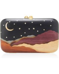 Silvia Furmanovich - Desert Moon And Stars Embellished Wood Clutch - Lyst