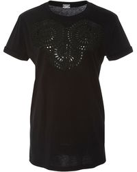 Alexis Mabille - Black Applique Embroidered Tee - Lyst