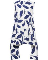Marni - Electric Blue Printed Leaf Tunic - Lyst