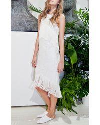 Carla Zampatti | Mixed Media Dress | Lyst