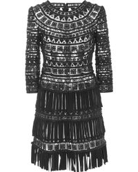 Naeem Khan | Special Suede Fringe Dress | Lyst