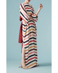 Carolina Herrera - Striped Kimono Sleeve Caftan - Lyst