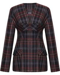 Bevza - Plaid Fitted Jacket - Lyst