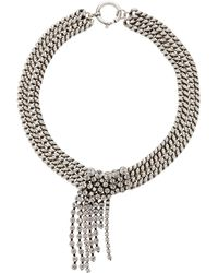 Isabel Marant - Silver-plated Swarovski Crystal Necklace - Lyst