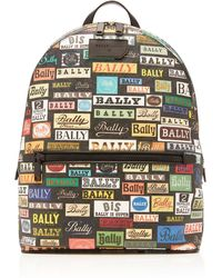 Bally - Multicolored Logo Backpack - Lyst