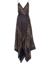 Jonathan Simkhai - Asymmetric Printed Satin Wrap Dress - Lyst