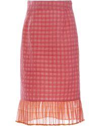 Rahul Mishra - Maheshwari Check Skirt - Lyst