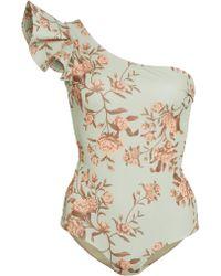 Johanna Ortiz - Flower Meditation One-shoulder Lycra Swimsuit - Lyst