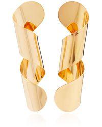 Bia Daidone - Loop 24k Gold-plated Earrings - Lyst
