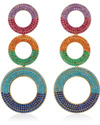 Joanna Laura Constantine | Gold-plated Grommet Rainbow Earrings | Lyst