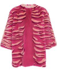 Carolina Herrera - Printed Mink Fur Coat - Lyst