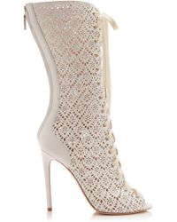 Giambattista Valli - Laser-cut Laced Boot - Lyst
