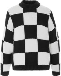 Courreges - Oversized Checkerboard Sweater - Lyst