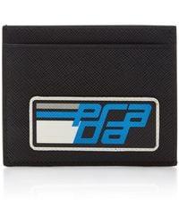 Prada - Logo-printed Leather Card Case - Lyst