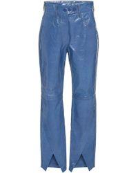 Petar Petrov - Homer Patent-leather Straight-leg Pants - Lyst