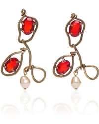 Marni | Earrings With Glass And Pearls | Lyst