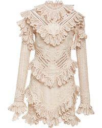 Zimmermann - Unbridled Battenburg Lace Mini Dress - Lyst