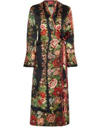 For Restless Sleepers - Dolos Printed Wrap Dress - Lyst