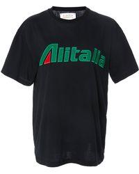 "Alberta Ferretti - ""alitalia"" Cotton T-shirt - Lyst"