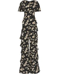 Michael Kors - Ruffle Silk Full-length Jumpsuit - Lyst