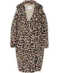 Max Mara - Edy Oversized Leopard-print Faux Shearling Coat - Lyst