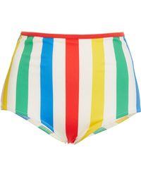 Solid & Striped - Brigitte Striped High Waist Bikini Bottom - Lyst