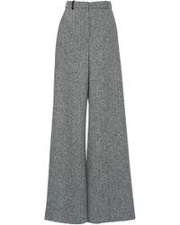 Lanvin - Tweed High Waist Palazzo Pants - Lyst