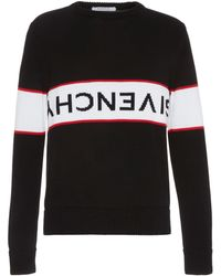 5d85b84438ea Givenchy - Striped Logo Sweater - Lyst