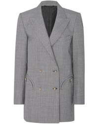 Blazé Milano - Micro Check Double Breasted Jacket - Lyst
