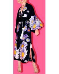 Yuliya Magdych - Loves Me Loves Me Not Embroidered Linen Caftan - Lyst