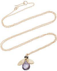 Annette Ferdinandsen - Jeweled Bug 14k Gold And Black Diamond Pendant Necklace - Lyst