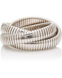 Sidney Garber - White Gold 12mm Rolling Bracelet - Lyst