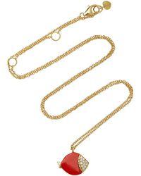 Nayla Arida - Coral Ladybug Pendant Necklace - Lyst