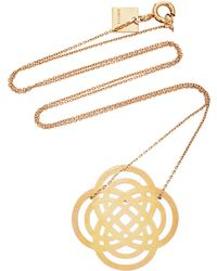 Ginette NY - Baby Purity 18k Rose Gold Pendant Necklace - Lyst
