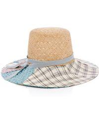 Albertus Swanepoel - Elsie Grosgrain-trimmed Straw Hat - Lyst