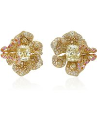 Anabela Chan - M'o Exclusive Canary Peony Earrings - Lyst