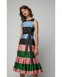 Carolina Herrera - Sleeveless Ruffled Dress - Lyst