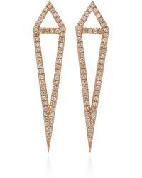 Eva Fehren - Dagger 18k Rose Gold And Diamond Studs - Lyst