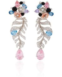Anabela Chan - Exclusive Rose Quartz Palm Earrings - Lyst