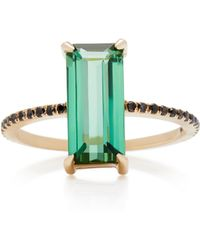 Yi Collection - 18k Gold, Tourmaline And Black Diamond Ring - Lyst