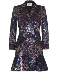 Ralph & Russo - Embellished Wool-blend Tailored Dress - Lyst