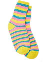 The Elder Statesman - Striped Cashmere Socks - Lyst