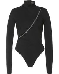 David Koma - Crystal Zipper Bodysuit - Lyst