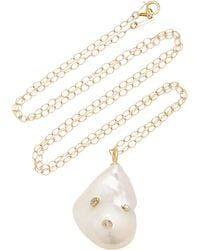 Mizuki - Baroque Freshwater Pearl And Diamonds Necklace - Lyst