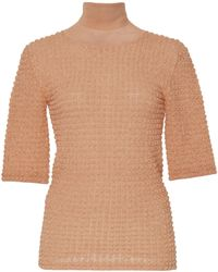 Jil Sander - Textured Knit Turtleneck - Lyst