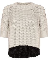 Genny - Colour Block Knit Jumper - Lyst
