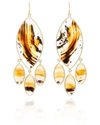 Kothari - 18k Gold Agate Chandelier Earrings - Lyst